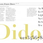 Double Page Spread on the typographer Didot created in InDesign